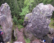Blick auf den Nordwestlichen Geierfelsen bei Gehlberg