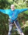 Klettern im Lauschagrund bei Tabarz Volker im Kleterrausch