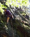 Klettern im Lauschagrund - Einstieg Edelweißkante Versteckte Wand