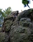 Klettern im Lauschagrund bei Tabarz - Roter Turm, Alter Weg
