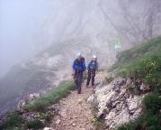 Auf den letzten Metern zurück zur Seilbahnstation Osterfelderkopf