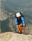Auf dem Watzmanngrat, kurz vor Erreichen des Gipfels der Südspitze