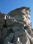 Südwestgrat nach der Scharte - Aufstieg auf das Zinalrothorn