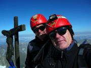 Steffen Große und Heiko Baumgard auf dem Gipfel des Zinalrothorn