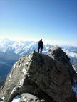 Steffen kurz vor der Kanzel auf dem Südwestgrat am Zinalrothorn