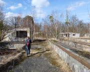 Auf den Spuren von Aljoscha - Soviel zum renaturierten Gelände: Im Panzer-Übungsbereich