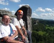 Auf dem Gansriff - mit herrlichen Aussichten in die Rathener Felsenwelt