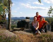 Christina, Volker und ich oberhalb der Wehlnadel am Wehlgrund