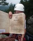 Ein herrlich altes Gipfelbuch auf der Ochelscheibe - hierher verirrt sich wohl kaum jemand.