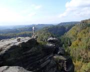 Tolle Aussicht in das Tal der Polenz und hinüber nach Rathen