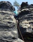 Nashorn, Südwestweg - Ausstiegsvariante - Almuth im Schlussstück.