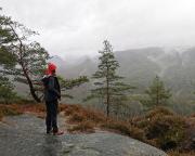 Eine Landschaft schön durch Regen – Aussichtspunkt Kleiner Winterberg