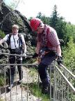 Ausstieg in die Mönchskanzel, der Klettersteig ist geschafft.