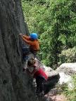 Kathrin und Johanna Wiesner meistern den Steig