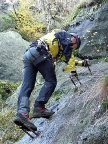 Die ersten Meter am Klettersteig Alpiner Grat